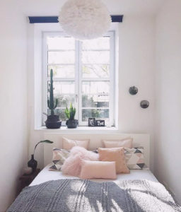 chambre cocooning coussins